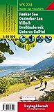 WK 224 Faaker See - Ossiacher See - Villach - Dreiländereck - Unteres Gailtal, Wanderkarte 1:50.000, Freytag Berndt Wanderkarten: Wandel- en fietskaart 1:50 000 - Freytag-Berndt und Artaria KG
