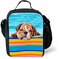 FOR U DESIGNS Practical Messenger Tote Lunch Food Picnic Bags for Boys-Bulldog by FOR U DESIGNS
