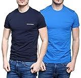 Emporio Armani T-shirt à manches courtes, en coton, stretch. - L - bleu/bleu clair