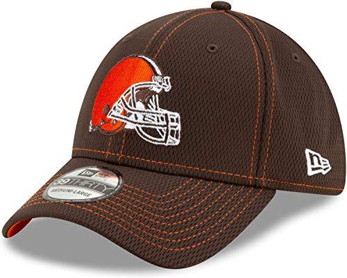 New Era - NFL Cleveland Browns On Field 2019 Sideline Road 39Thirty Stretch Cap - Braun Größe S-M, Farbe Braun (Browns Cap)