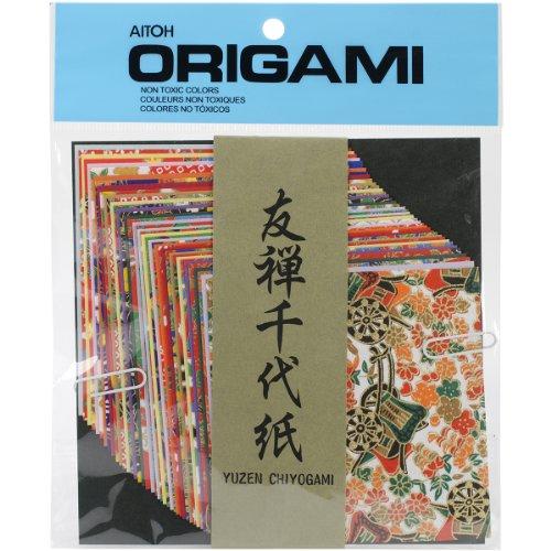 Origami carta 40/Pkg-Yuzen Washi Chiyogami 4