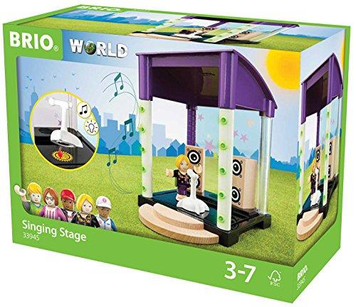 BRIO World 33945 - Village Bühne mit Licht und Sound, bunt