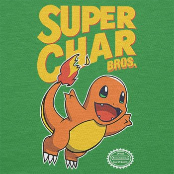 NERDO - Super Char Bros. - Damen T-Shirt Grün