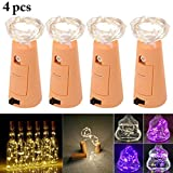#1: Outgeek 4PCS 3.3ft Wine Bottle Light Decorative LED Cork Light Bottle Light for Party