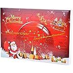 MJARTORIA Damen Schmuck Adventskalender Weihnachtskalender Adventszeit mit 24 Überraschungen Kette Ohrring Ringe Armband