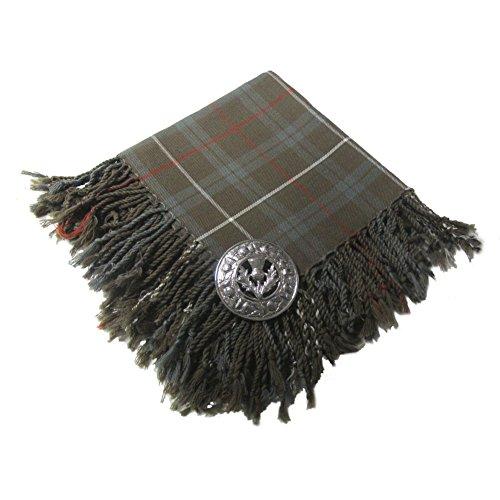 Tartanista - Herren Fly Plaid - verwaschene Optik - Fraser (Kilt Brosche Scottish)