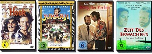 Das Robin Williams Klassiker Set mit Hook, Jumanji, König der Fischer und Zeit des Erwachens - Deutsche Originalware [4 DVDs]