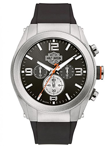 Harley-Davidson Men's Six-Hand Chronograph Watch Two-Tone Steel Case 76B176