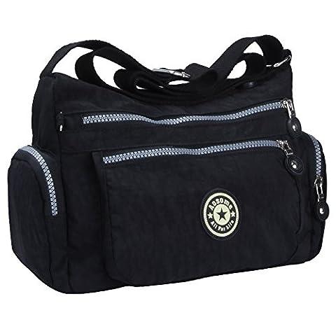 Women Tote Messenger Cross Body Nylon Handbag Bag Ladies Shoulder