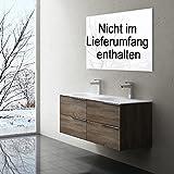 Badmöbelset Vanessa - Doppelwaschbecken und Unterschrank mit 4 Schubladen, BTH: 120x48x47cm, Farbe: Nussbaum