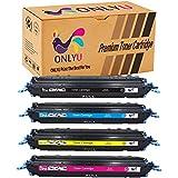 ONLYU 4-Paquete Compatible HP Q6000A Q6001A Q6002 Q6003A Cartucho De Tóner para HP Colour Laserjet Printers 1600 1600n 2600 2600n 2600dn 2600nse 2605 2605d 2605dn 2605dtn CM1015 mfp CM1017 mfp (1 Negro/1Cian/1Magenta/1Amarillo)