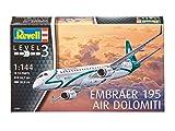 Revell Modellbausatz Flugzeug 1:144 - Embraer 195 AIR DOLOMITI im