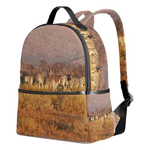 FANTAZIO Rucksack für Reisen Afrikanische Tiere Zebra Group Daypack - Zebra Hobo Handtasche