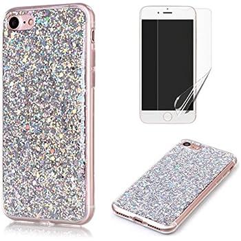 Custodia iPhone 7 Cover iPhone 8 Trasparente Brillantini Cover