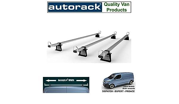 2016-onward AutoRack WorkReady With roller. CITROEN DISPATCH Van Roof Rack 3 Bars Mk3