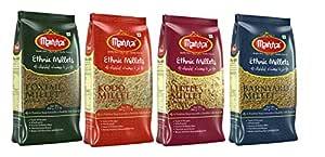 Manna Mixed Millets Combo (Kodo Millet 500g, Little Millet 500g, Foxtail Millet 500g, Barnyard Millet 500g)