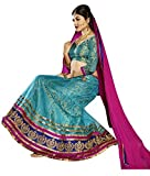 Melluha Blue Net Embroidered Booti and B...