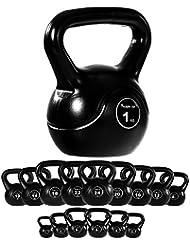 MOVIT® Kettlebell Kugelhantel mit bodenschonender Kunststoffummantelung, 15 VARIANTEN: 1 bis 24 kg