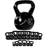 MOVIT® Kettlebell Kugelhantel mit bodenschonender Kunststoffummantelung, Kugelgewicht in 15 Varianten: 1 kg bis 24 kg Schwunghantel