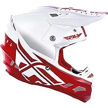 FLy Racing 2019 F2 Carbon MIPS Shield - Casco de Motocross, Blanco y Rojo,