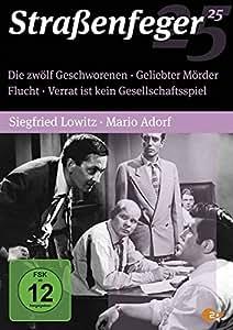 Straßenfeger 25 - Die zwölf Geschworenen / Geliebter Mörder / Flucht / Verrat ist kein Gesellschaftsspiel [4 DVDs]