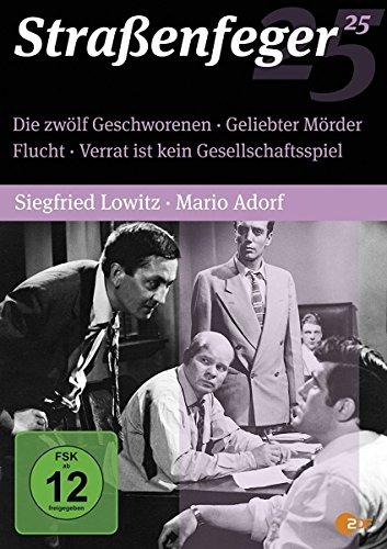 Bild von Straßenfeger 25 - Die zwölf Geschworenen / Geliebter Mörder / Flucht / Verrat ist kein Gesellschaftsspiel [4 DVDs]