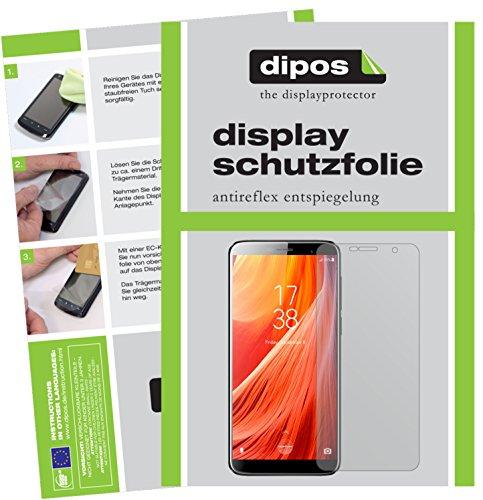 dipos I 2X Schutzfolie matt passend für HOMTOM S7 Folie Bildschirmschutzfolie