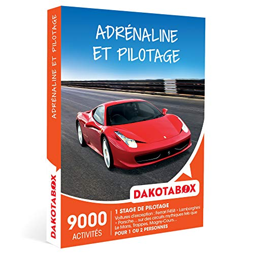 DAKOTABOX - Adrénaline et pilotage - Coffret Cadeau Sport & Aventure - 1 stage de...