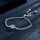 CAVIVI Creux Cubique Fleur Zircone Cristal Bracelet Réglable pour Femme Pierre De...