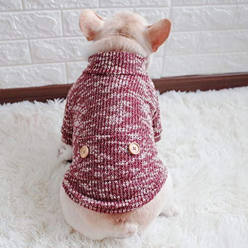 (TYJY Hundekleidung Warm Hundemantel Weiche Welpen Hundekleidung Winter Pet Sweater Bulldogge Pet Dogs Ropa para Perro Chihuahua Pet Dogs Kleidung)