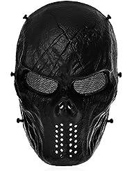 Tomount Táctico Máscaras Protecciones Facial Para Airsoft Paintball CS Negro