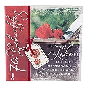 Depesche 4907.007Tarjeta de felicitación Emotions en diseño Elegante, 70º cumpleaños, Multicolor