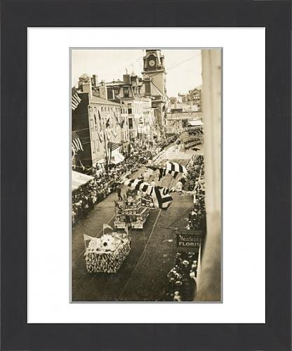 framed-print-of-a-parade-in-fall-river-massachusetts-sherwin-williams-float