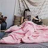 Traspirante Coperta a doppia faccia coperta di velluto di coniglio coniglio coperta di pelo coperta di aria condizionata coperta coperta di capelli di capelli per studenti dormitorio per bambini (Dime