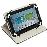 Caseit Universal Folio Case Cover Schutzhülle mit Integriertem Stand für 7 Zoll (17,8cm) Tablet-PC Kompatibel mit iPad Mini, Google Nexus 7, Samsung Galaxy Tab 3 7.0, Kindle Fire HD 7 und Tesco Hudl - Schwarz - gut und günstig