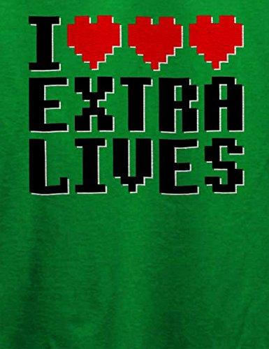 I Love Exra Lives T-Shirt Grün