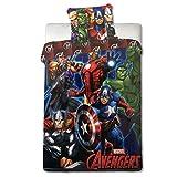 Faro Marvel Avengers parure de lit pour enfant: 140x 200cm (certifié Öko-Tex standard 100) 001, coton, multicolore, 200x 140cm