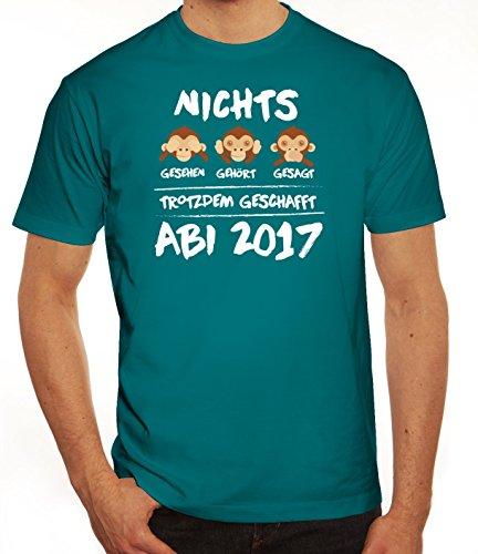 Abschluss Abitur Herren T-Shirt mit Abi 2017 - Nichts gesehen, gehört, gesagt Diva