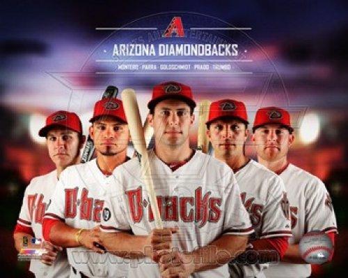 Arizona Dbacks 2014 Team Composite Photo Print (40,64 x 50,80 cm)