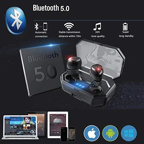 Wslhcsure Bluetooth Kopfhörer Kabellos V5.0 Touch Bluetooth Headset Sport Ohrhörer Wireless In Ear Kopfhörer 3000mAh Kontinuierliche Fahrt für 90h Unterstützung der Siri IPX7 Wasserdicht Mikrofon - 3