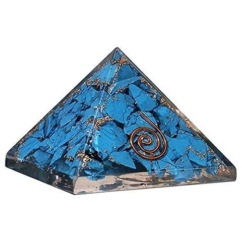 echtem Edelstein feine Qualität Pyramiden metaphysisch Orgonite Pyramiden, Stein, türkis, 65-75 mm