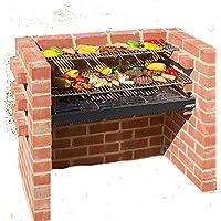Parrillas de acero inoxidable barbacoa de ladrillos con pesados + calentamiento Rack + Cover + bolsa