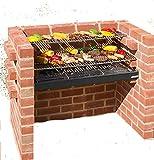 Black Knight Ensemble lourde grille en acier inoxydable et grille de réchauffement pour barbecue en briques Conforme à la norme de sécurité et de qualité EN...