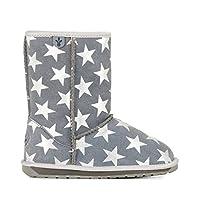 Emu Australia Kids Starry Night Deluxe Wool Boots Size UK 8 Grey