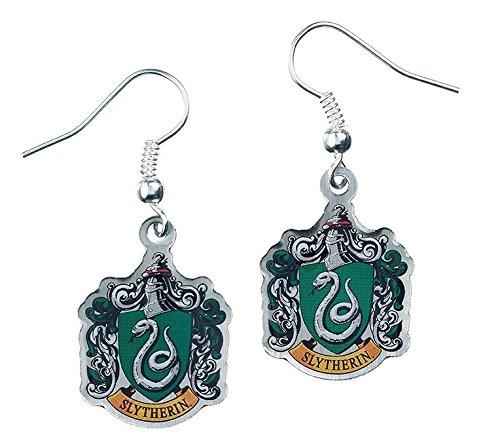 Ohrringe, Motiv: Harry Potter, Schmuck, Slytherin-Wappen (Replik Ohrringe)