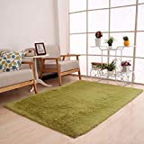 #6: Fluffy Rugs Anti-S Shaggy Area Rug Dining Room Home Bedroom Carpet Floor Mat