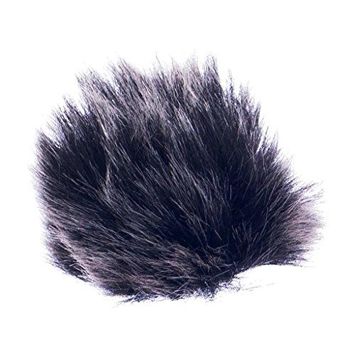 Schwarzes Mikrofon Windschutzscheibe Für Revers Lavalier-Mikrofon Miniatur Fell-Windschutz 1.5mm