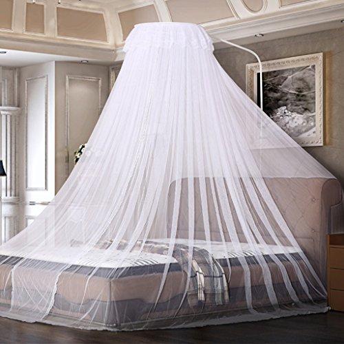 Luxus Moskitonetz Dome Einstellbare Zelt Netting Baldachin Vorhänge Schnelle Installation für Baby Kleinkind Indoor Outdoor Anti Insektenstiche Keine Notwendigkeit, Full Size Punch ( Farbe : Weiß ) (Full-size-bett Für Kleinkind)