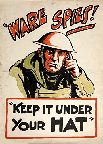 British WW2 1939-45 Vintage Propaganda! WARE SPIES Halten Sie es nach Ihren Mütze,...