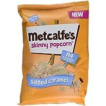 Metcalfe's Skinny Salted Caramel Popcorn, 75 g, Pack of 8